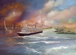 Voyage of Memories - Queen Elizabeth 2013 by Philip Gray -  sized 20x15 inches. Available from Whitewall Galleries